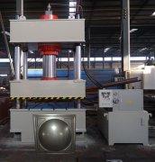 三门峡300吨不锈钢水箱成型液压机客户现场